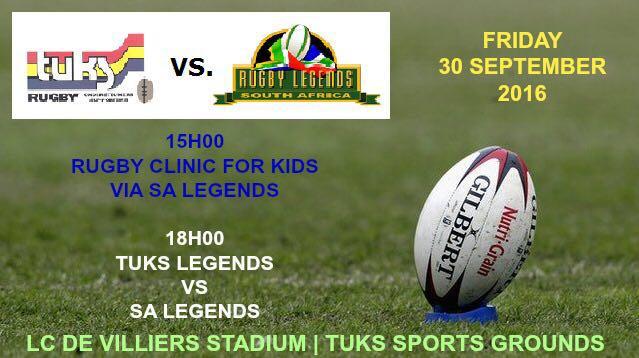 SA Rugby Legends vs Tuks Legends Team