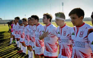 HSH Princess Charlene of Monaco wishing the Monaco U16 team all the best before leaving to participate in the SA-Monaco Rugby Exchange Tournament to be held at City Park, Athlone on Sunday July 10 2016.