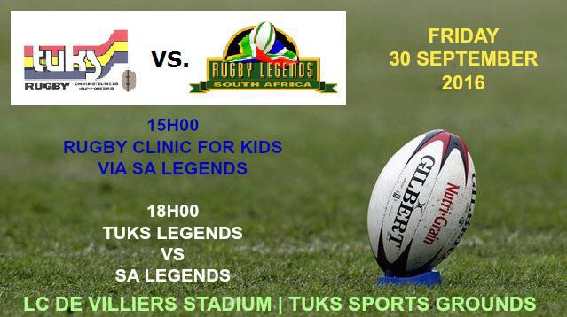 SA Rugby Legends vs Tuks Legends Team