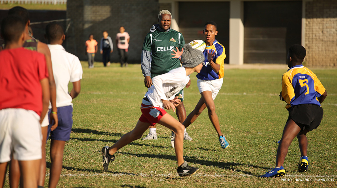Vuka Rugby Schools with a Clinic