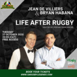 #RUGBYUNITES: LIFE AFTER RUGBY WEBINAR TO FEATURE DE VILLIERS AND HABANA
