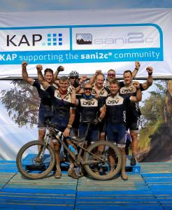 DSV Rugby Legends Cycle Team At The 2018 KAP Sani2c
